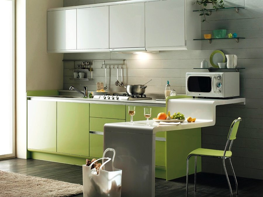 Pilihan warna kitchen set minimalis elegan