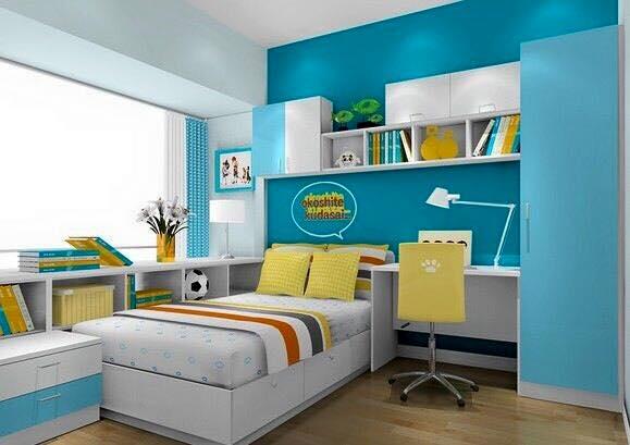 Desain Kamar Tidur Anak Laki Sederhana