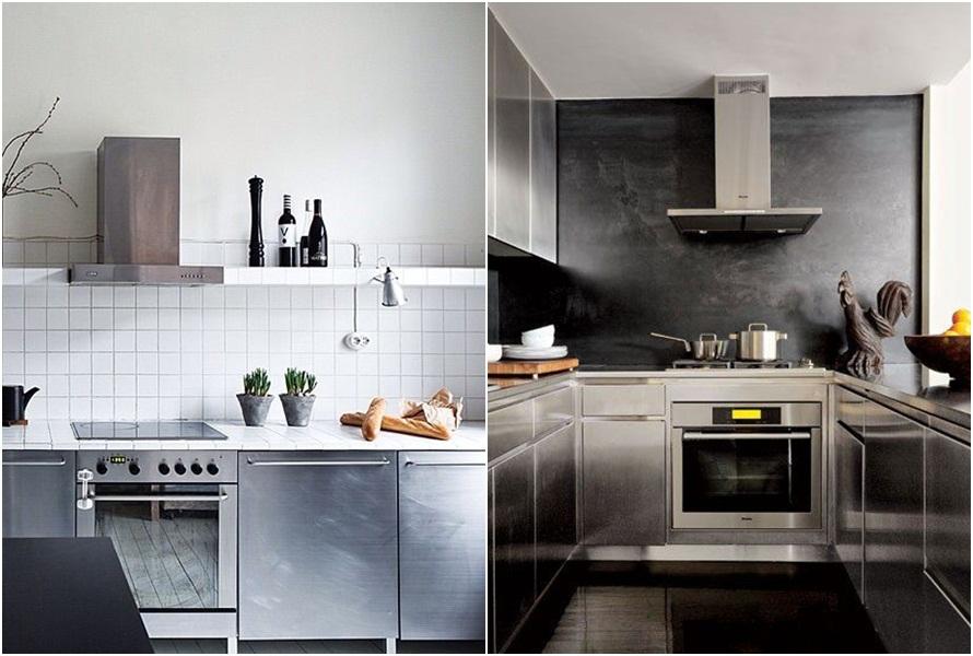 Perabot Mengkilap Desain Dapur Kecil