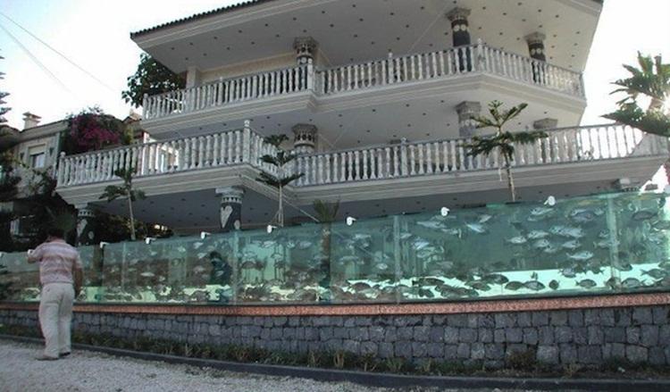 Pagar Rumah Unik Aquarium
