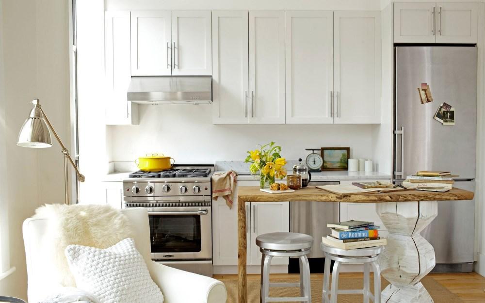 Kitchen Set Mini Putih Dengan Lemari Tinggi