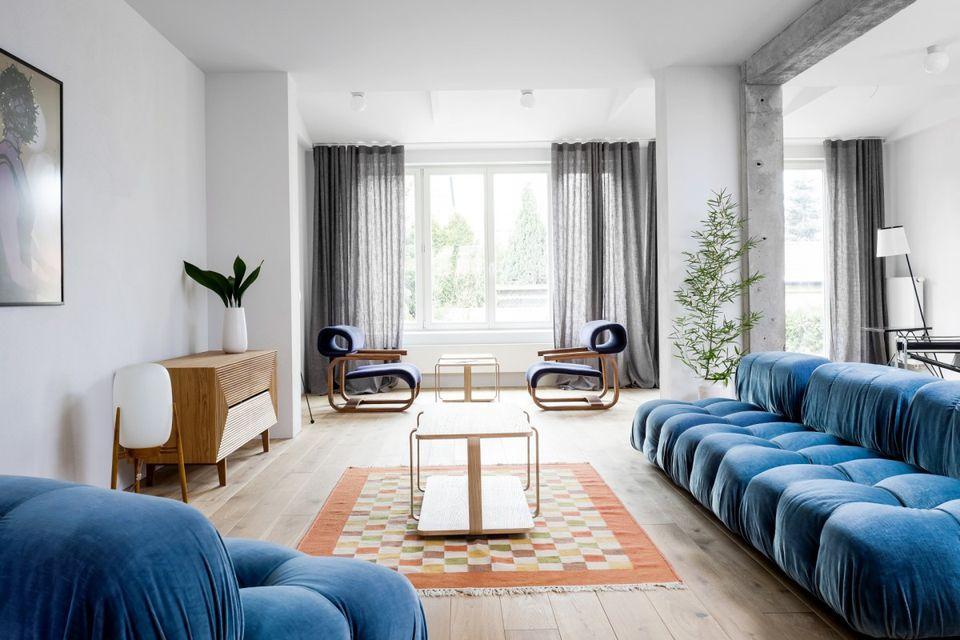 Desain ruang tamu minimalis ukuran 3x3 a la Studio Loft Kolasinski