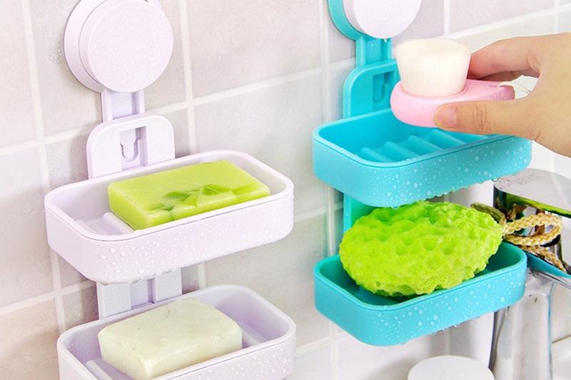 Kabinet Sabun Warna-Warni Rumah Kecil Sederhana