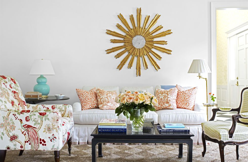 Rumah Kecil Sederhana Sofa Floral