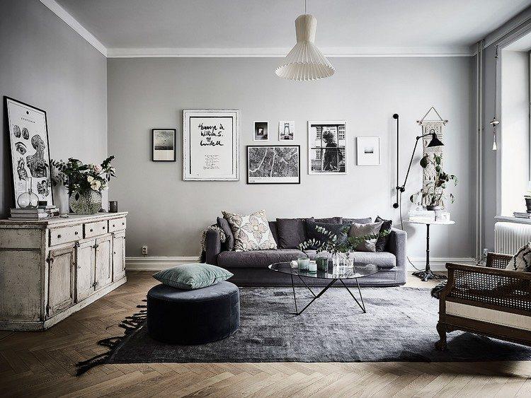 Desain Apartemen Bohemian Modern dengan Sentuhan Monokrom
