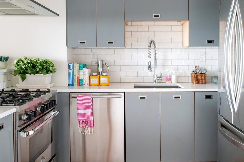 Desain Dapur Minimalis dengan Sentuhan Abu abu