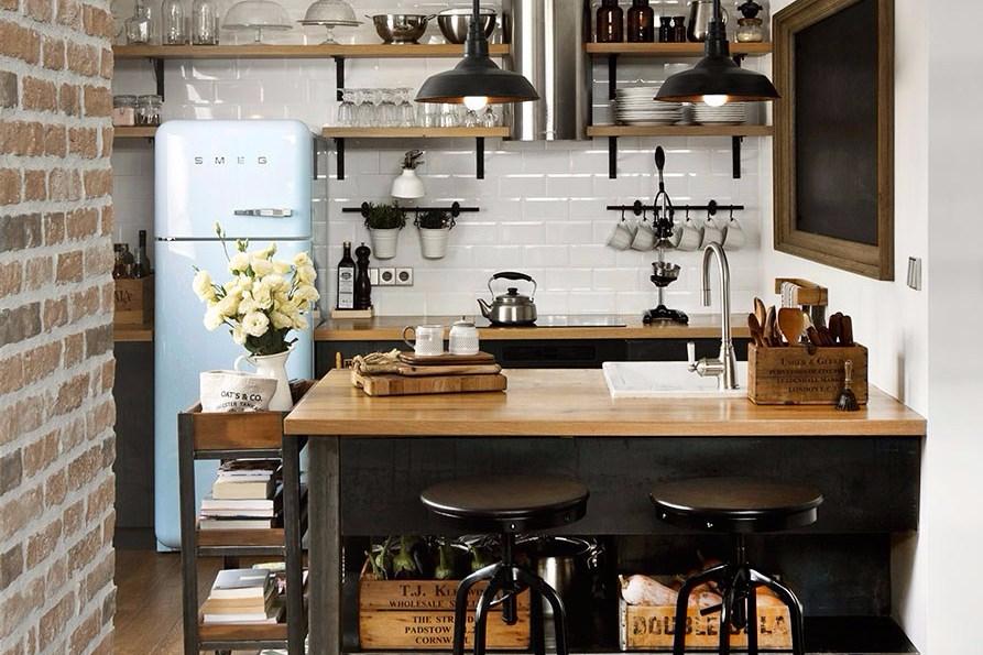 15 Desain Dapur Kecil Cantik Bikin Memasak Lebih Cepat
