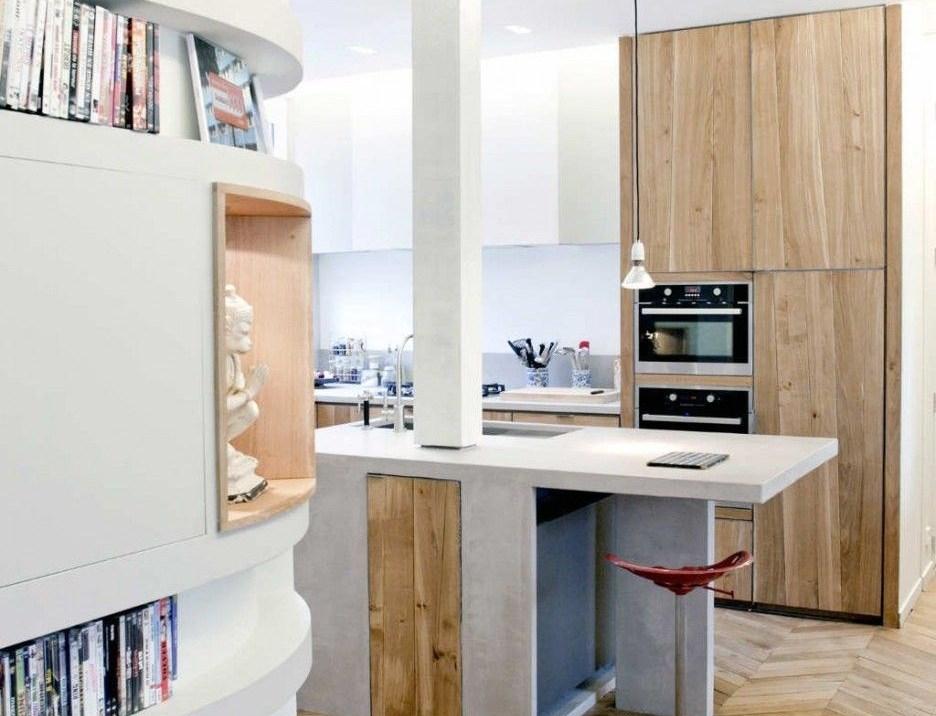 Desain Dapur Kecil Kayu