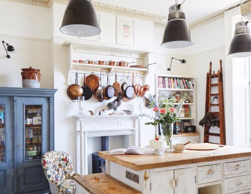 Desain Dapur Kecil Vintage