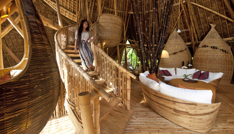 42+ Gambar Contoh Rumah Bambu Gratis
