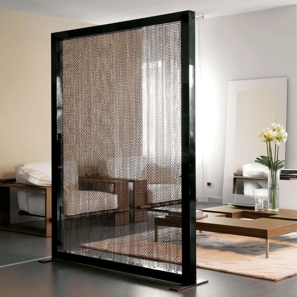8 Sekat Ruang Tamu Yang Buat Ruangan Terlihat Luas Partisi kaca ruang tamu