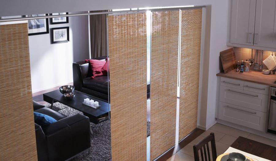 Sekat Ruang Tamu Tirai Bambu