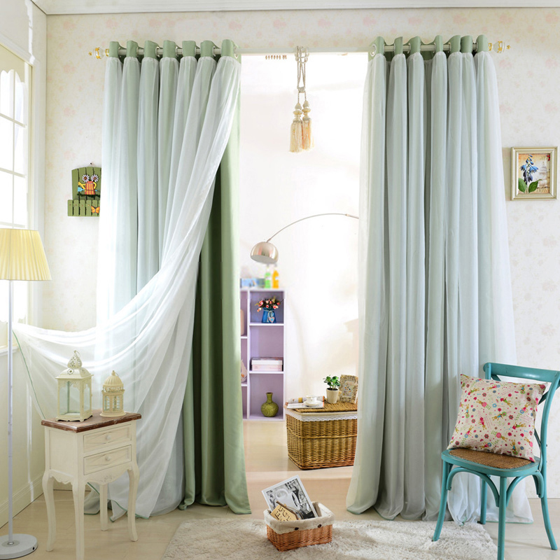 Gorden rumah dengan perpaduan 2 warna kain