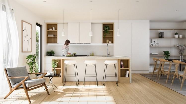 Model dapur Skandinavia