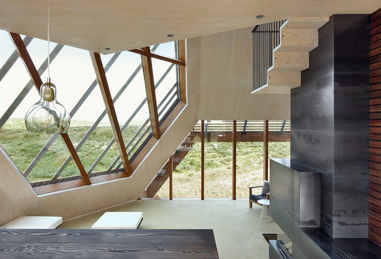 Desain rumah unik geometris dengan bentuk 3D