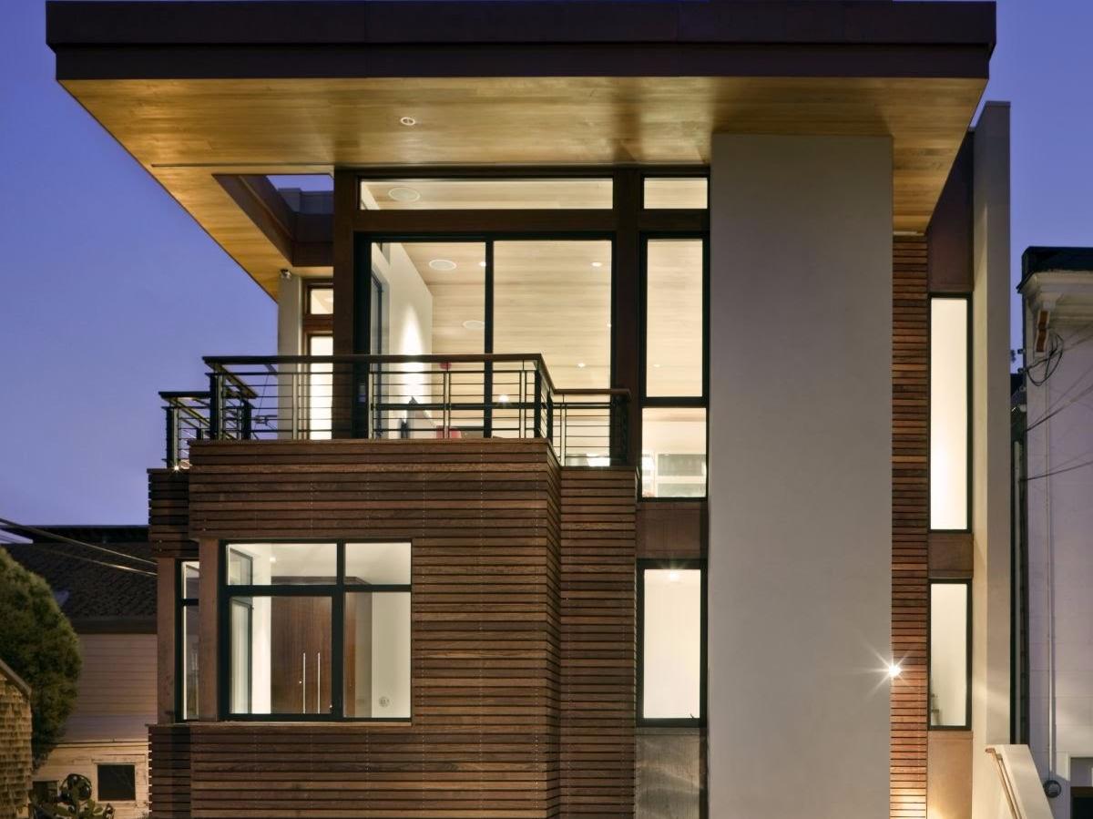 2. Desain Rumah 2 Lantai Minimalis Beratap Rata & 15 Desain Rumah 2 Lantai Minimalis Kreatif