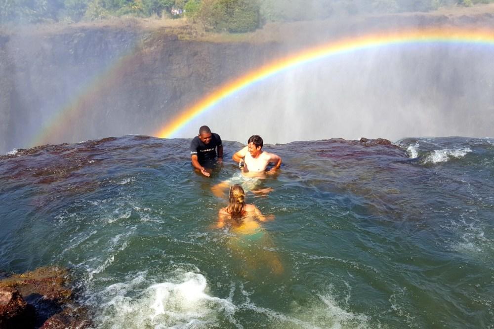 Kolam Renang Devil's Pool Zambia