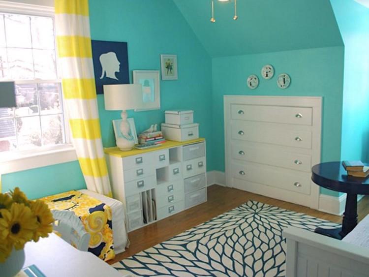 cara menghias kamar tidur yang sempit dinding penyimpanan