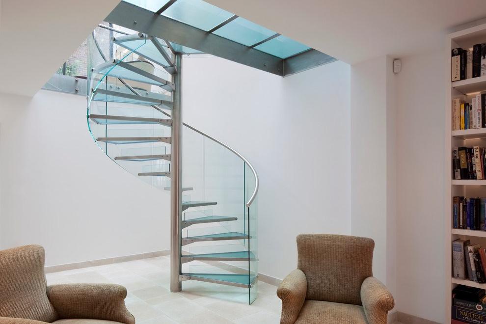 Tangga Rumah Mewah Glasses Stairs