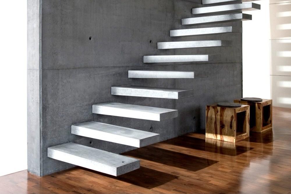 Tangga Rumah Mewah Cantilevered Stairs