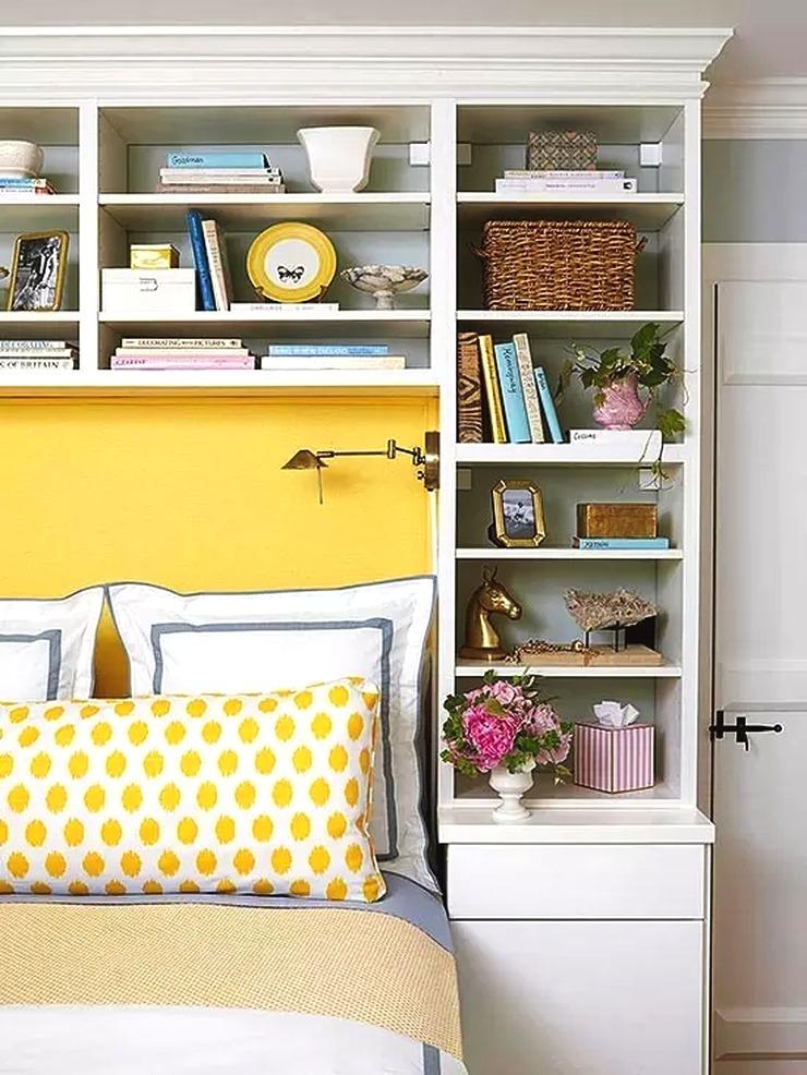 Lebih banyakstoragedi interior kamar memakai rak dinding