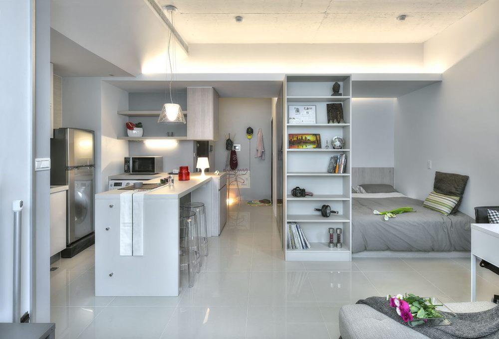 Ruang Terbuka Interior Apartemen Minimalis