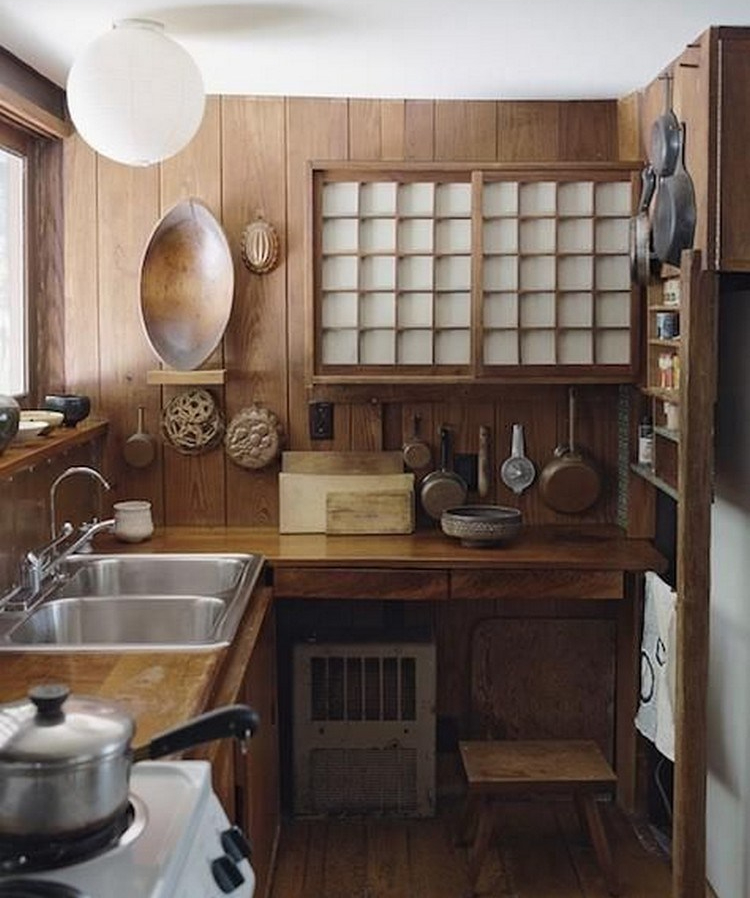 Dapur bersih ala Jepang semi tradisional