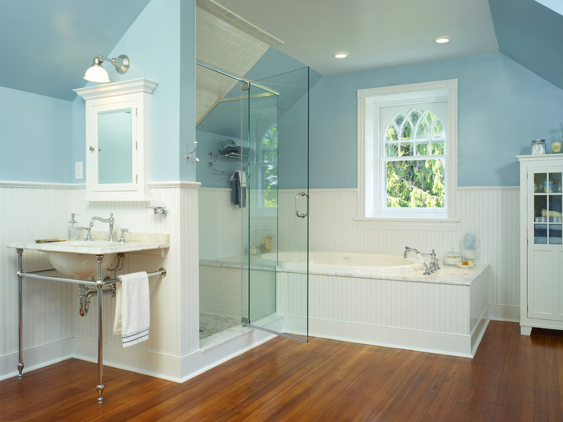 lantai kamar mandi bambu