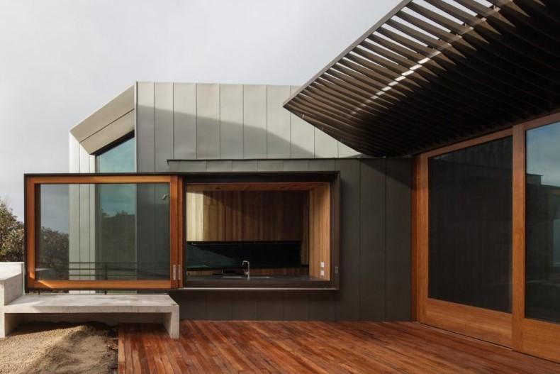 rumah minimalis terbaru geometris trapesium