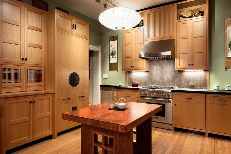 Dapur bersih minimalis ala Jepang