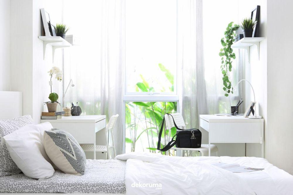 Dekorasi Kamar Tidur Serba Putih