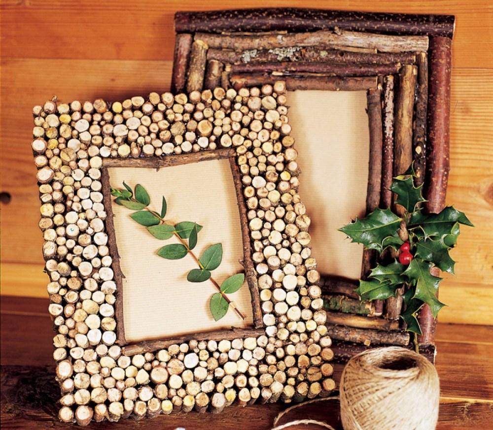 Bingkai Foto Cantik Batang Pohon