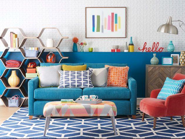 Inspirasi Ruang Tamu Desain Retro