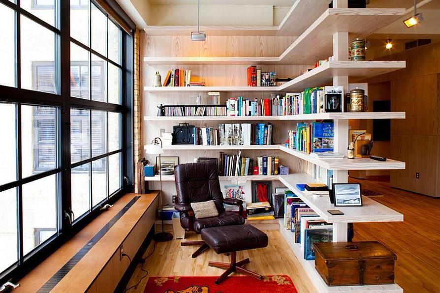 Rak Buku Terbuka Sudut Ruang Baca