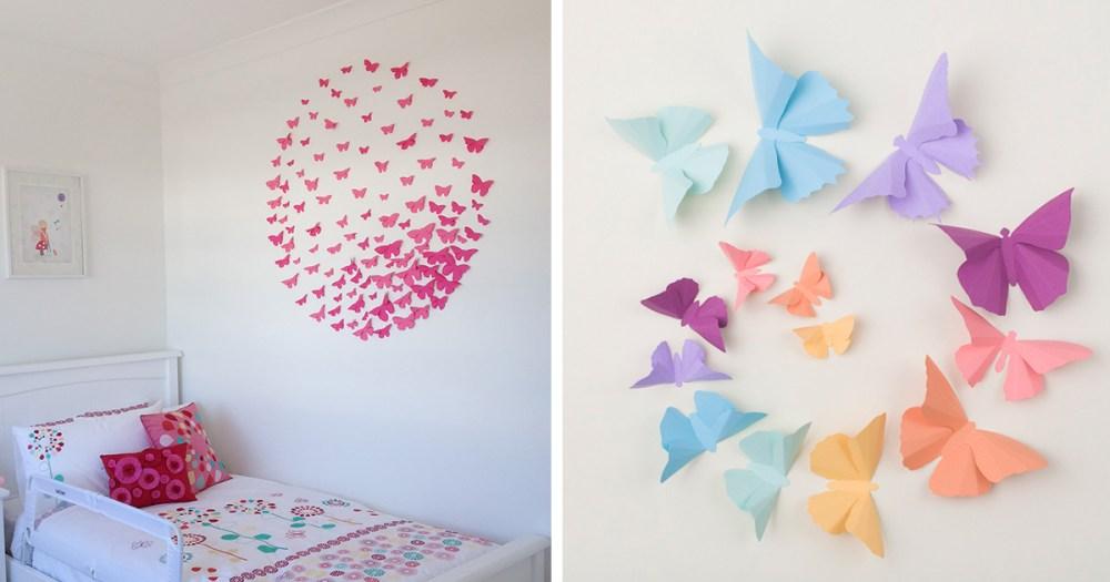 Cara membuat hiasan dinding kamar dari kertas origami 3D