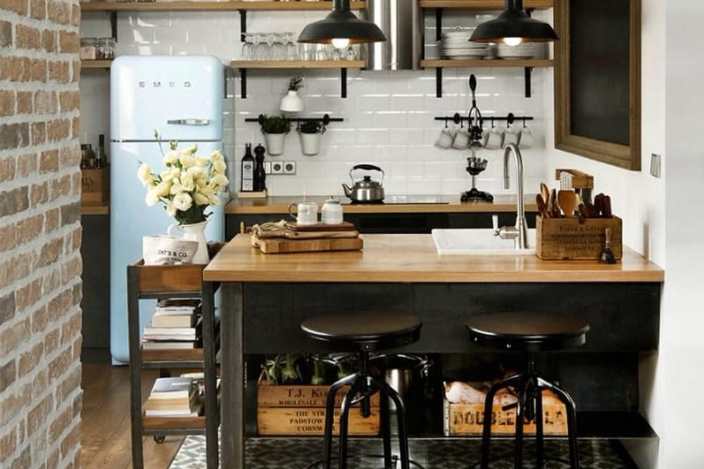 meja bar minimalis vintage