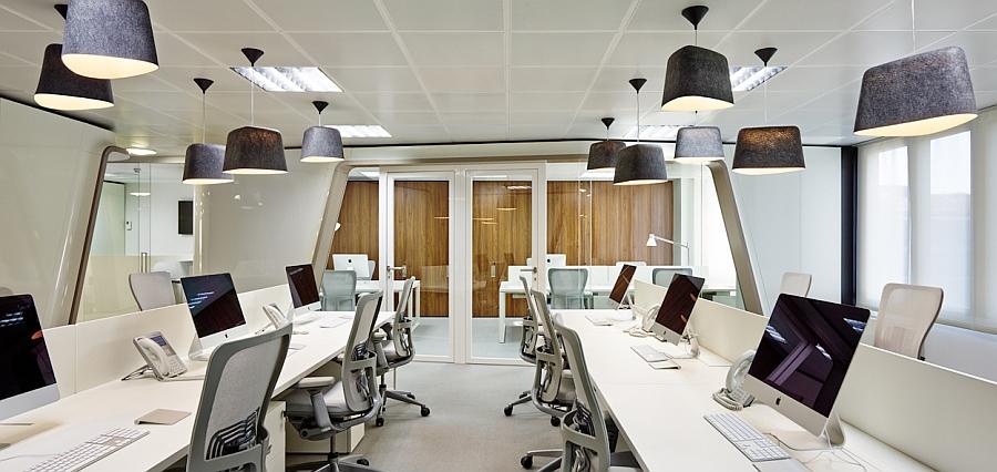 ruangan kantor pencahayaan lampu