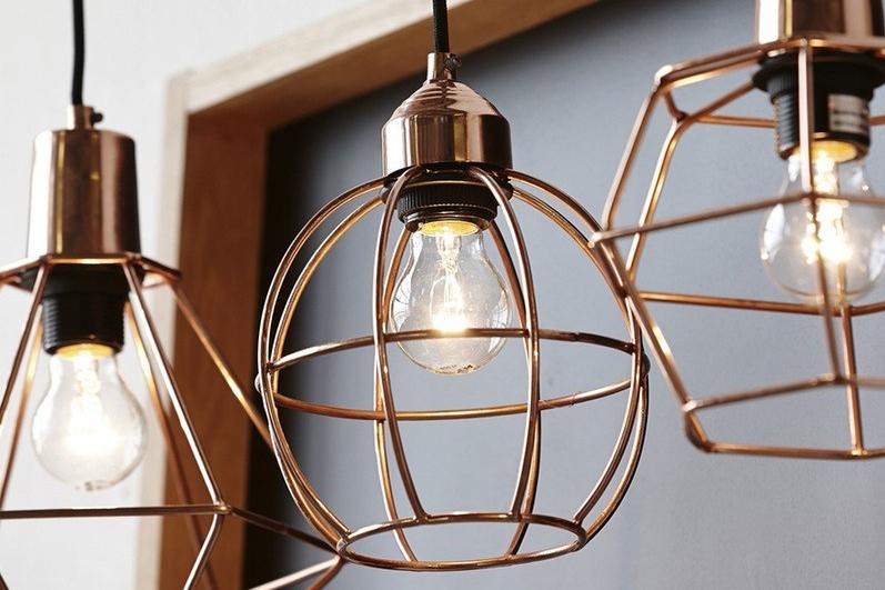 ruangan tamu industrial lampu