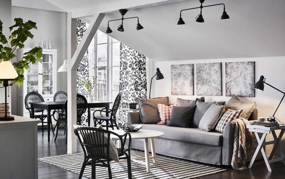 Warna Dekorasi Ruangan Tamu Open Plan