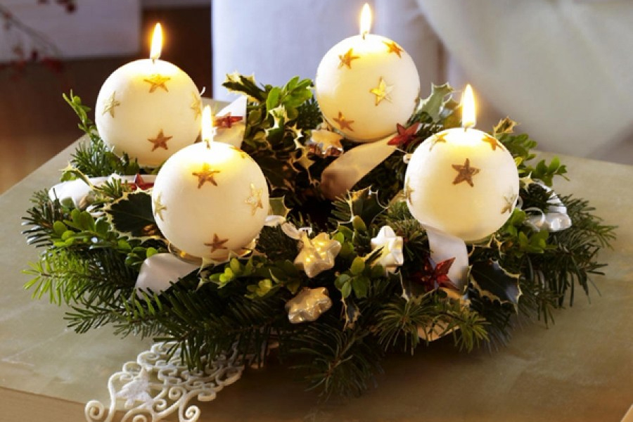 Lilin Dekorasi Natal