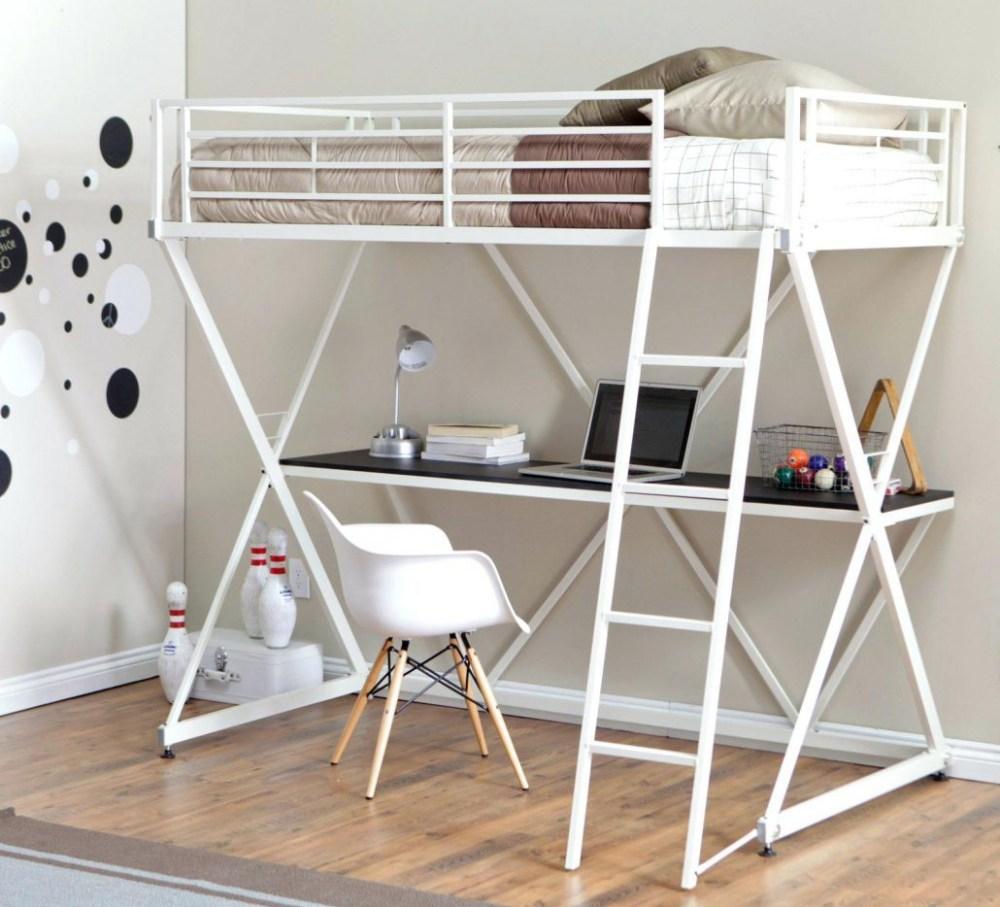 Bunk bed dengan meja belajar furnitur multifungsi