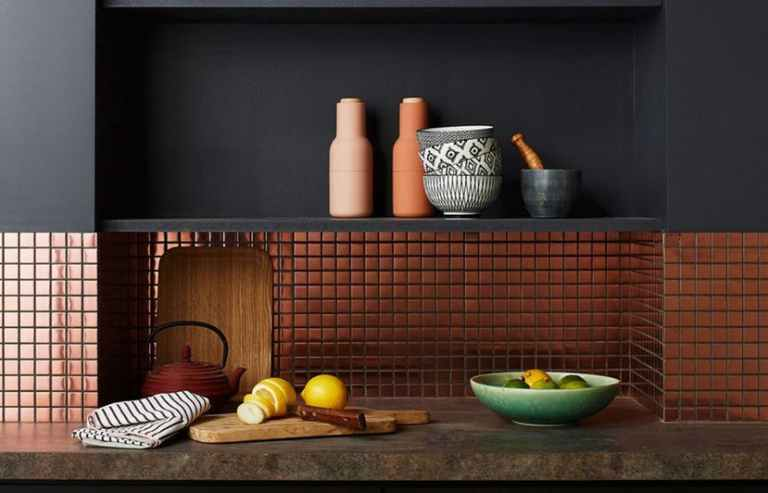 Elegant Metallic for Kitchen Ceramic Colors