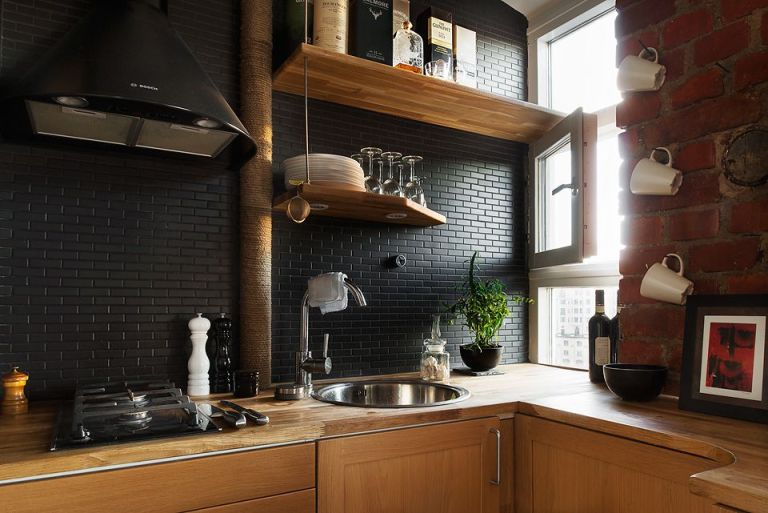 Black Masculine on Kitchen Ceramic Colors