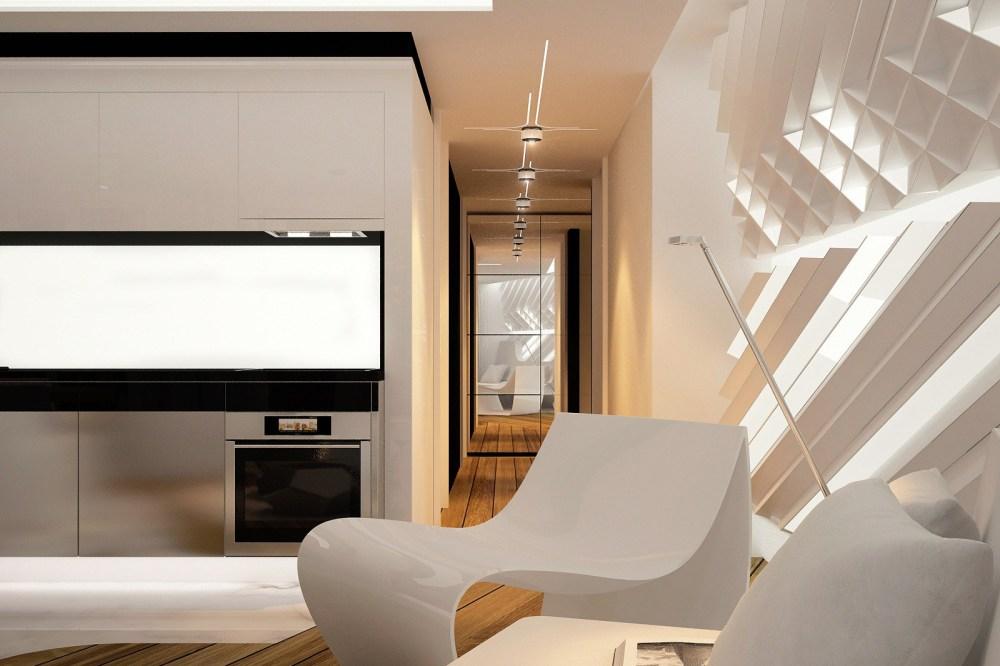Furnitur Aerodinamis Desain Futuristik