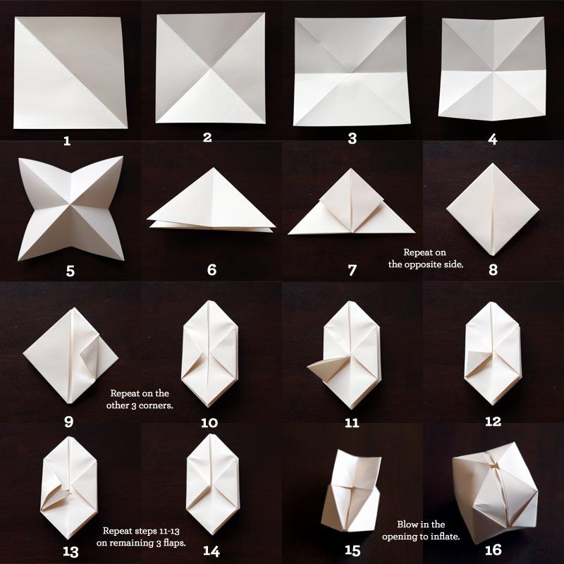 Lampu Taman Dekoratif dengan Origami dan Kertas Kado