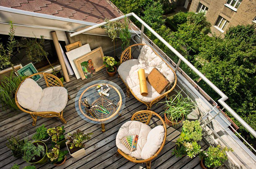 Balkon Rumah Kayu