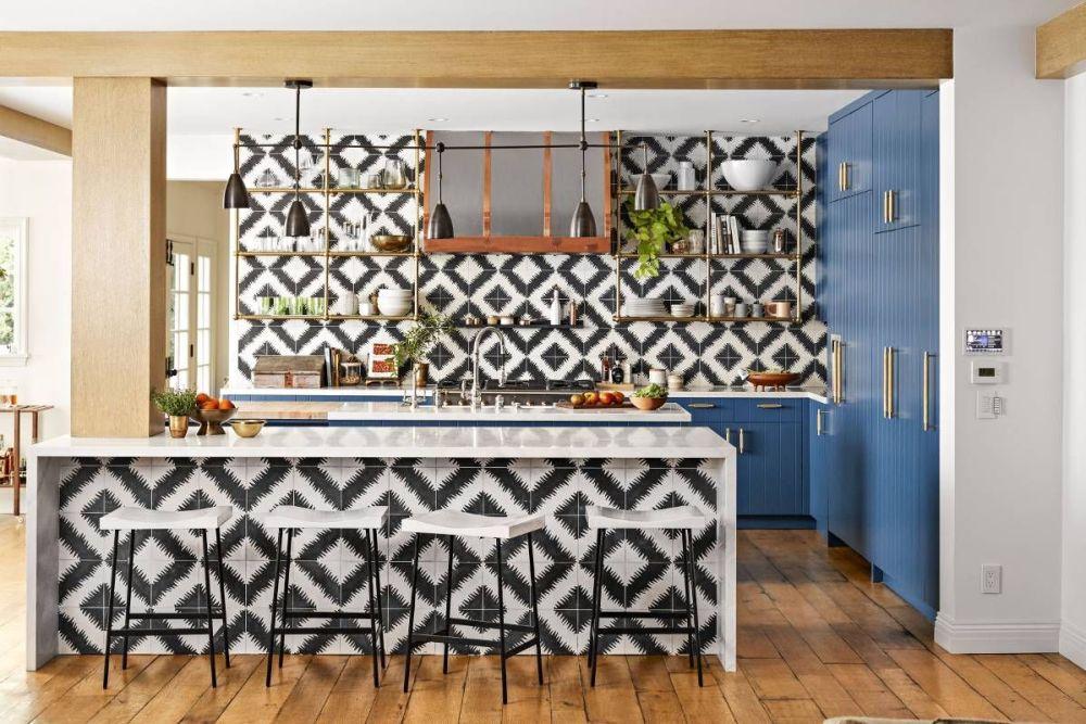 Desain Dapur Mewah Hippie Milik Hillary Duff