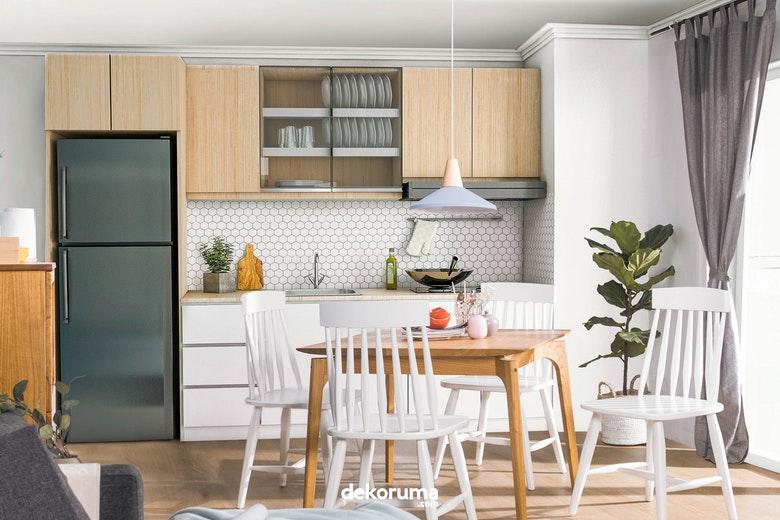 Desain Ruang Tamu Tanpa Kursi  desain dapur dan ruang makan jadi satu kenapa tidak