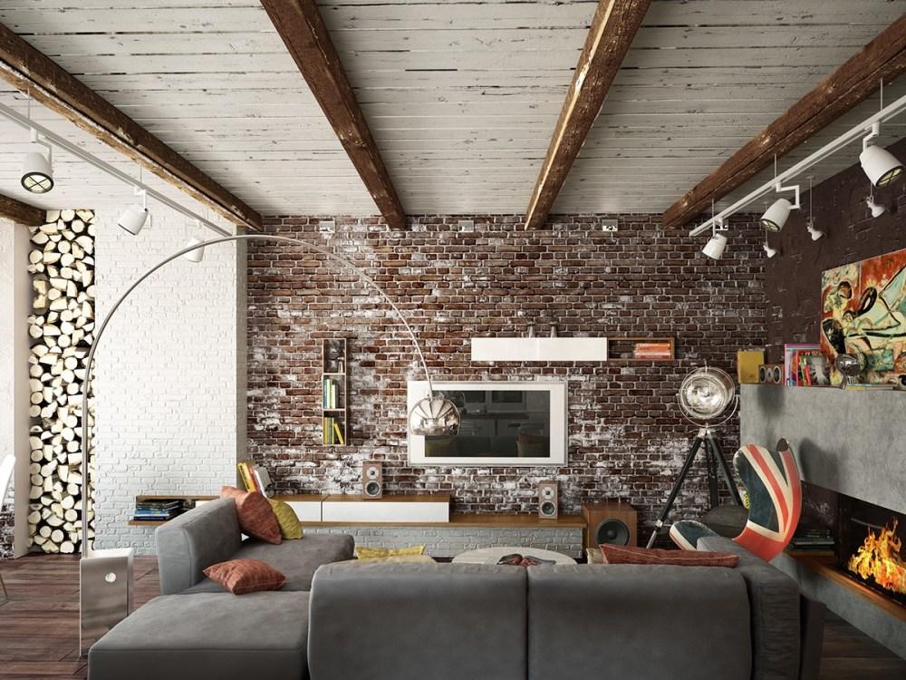 Dinding Batu Bata Rustic