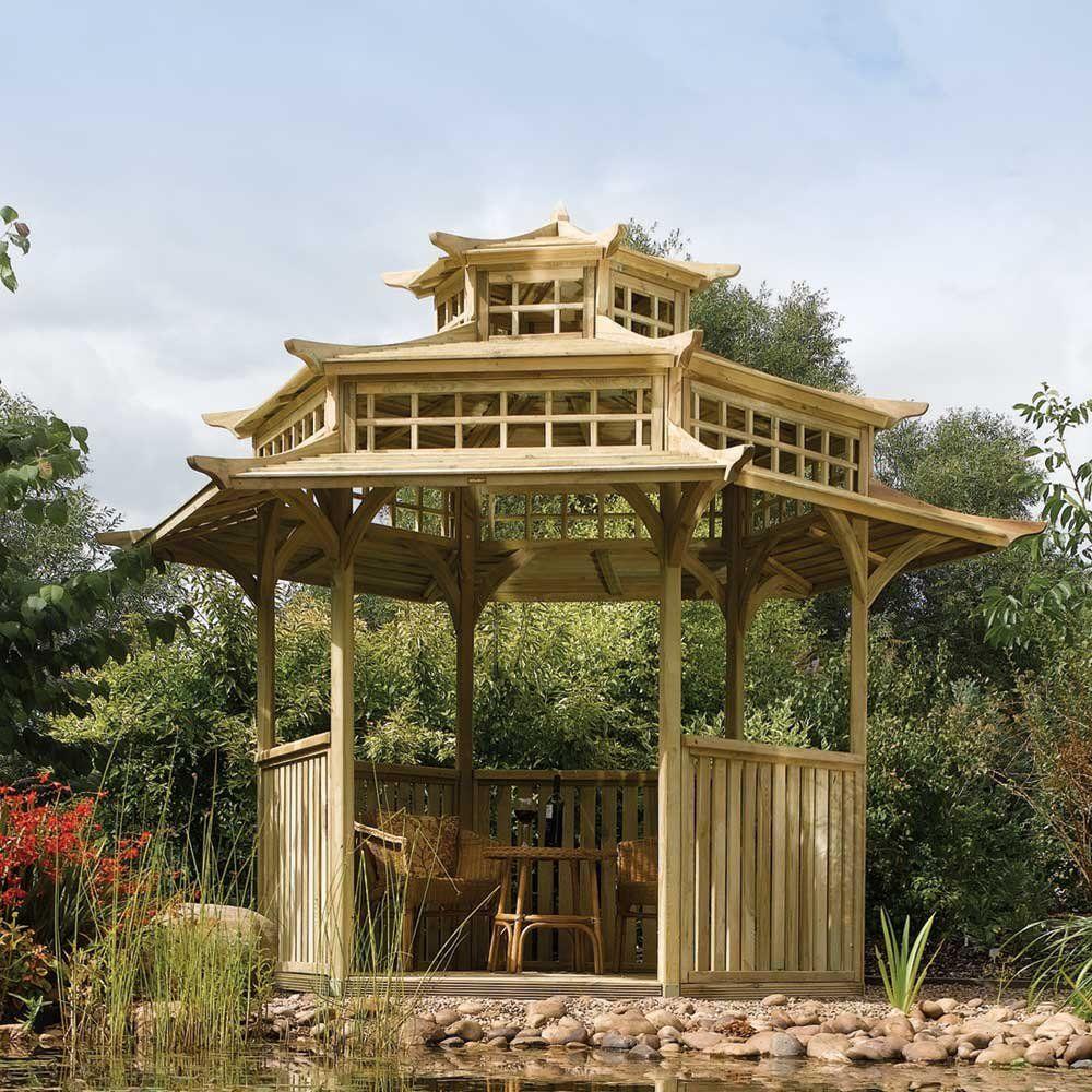 Lepas Lelah Seharian Di Desain Gazebo Taman Yang Sejuk Ini!
